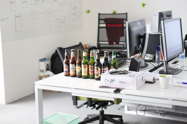 SiteGround crew are real beer lovers too. A rare beer collection decorates the devs corner.