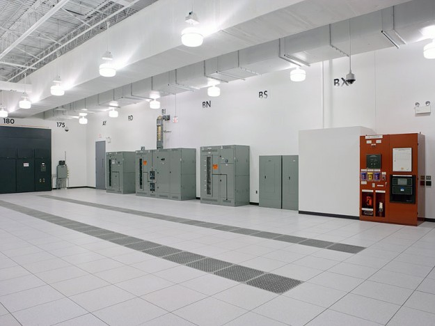 Chicago Data Center - The Chicago datacenter is organized into computer rooms like this, each one being about 30,000 square feet in size. The SiteGround servers reside in rooms like this one.
