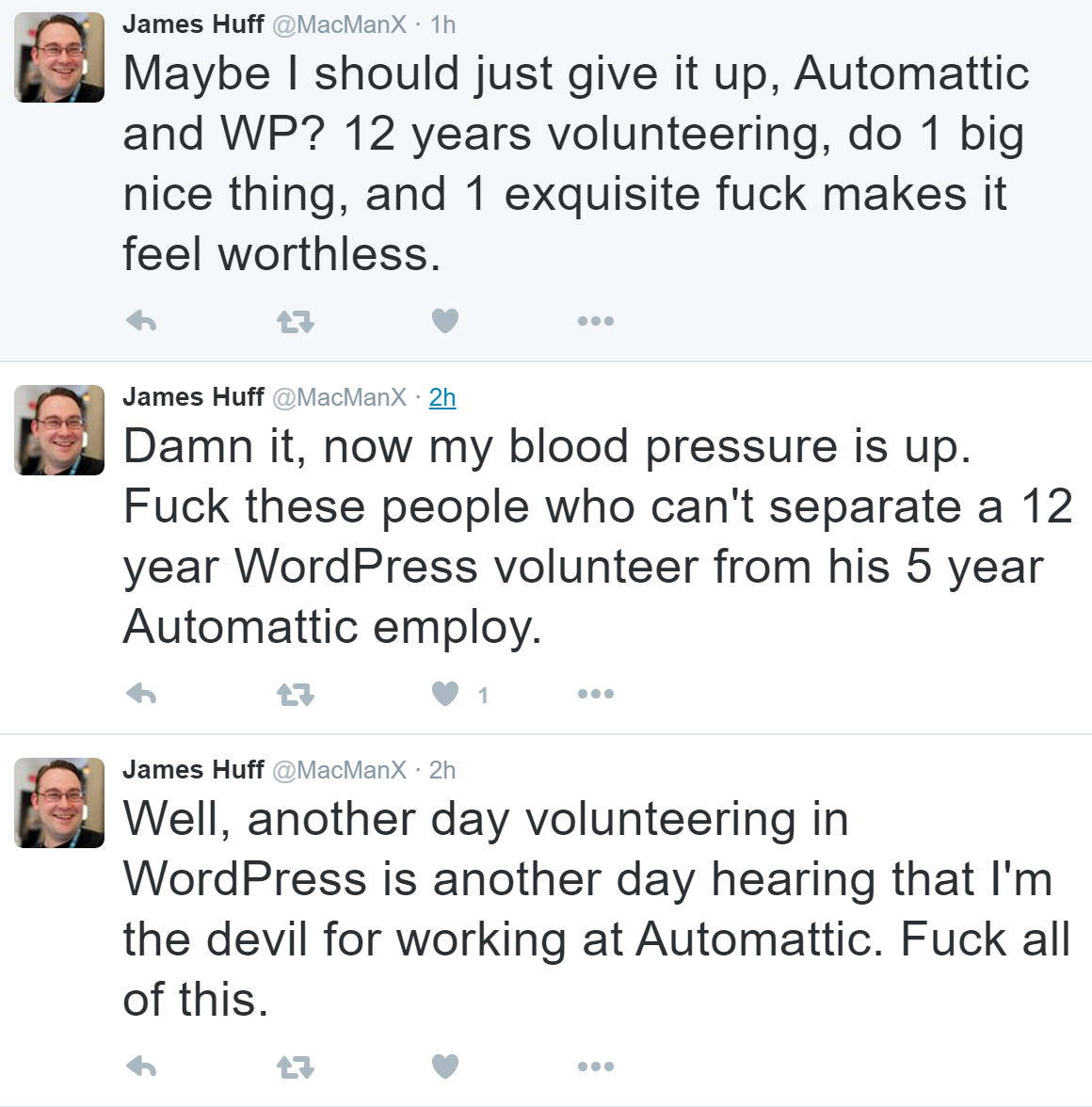 james huff 3 tweets