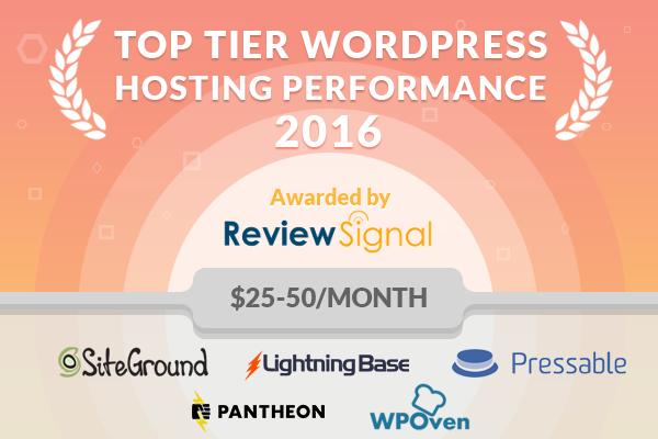 $25-50/Month WordPress Hosting Performance Benchmarks (2016