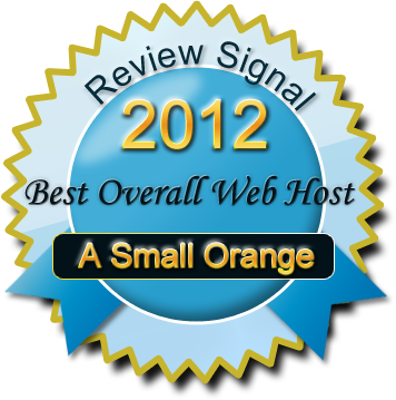 A Small Orange 2012 Best Overall Web Host