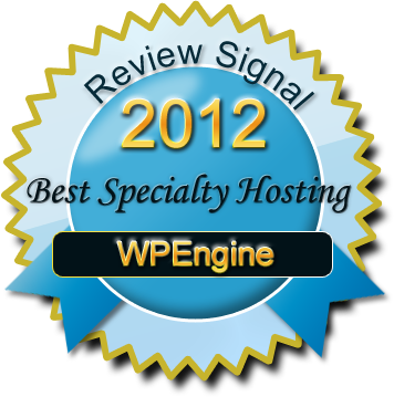 WPEngine 2012 Best Specialty Web Host
